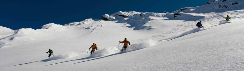 hors piste descente queyras neige poudreuse