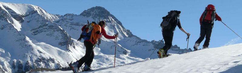 raid dans le Queyras en ski de randonnée encadré par des guides de haute montagne
