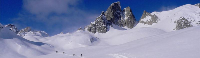 ski en étoile en randonnée, haute ubaye, bon niveau de ski, soleil et bonne neige