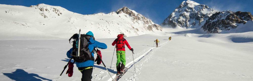 dolomite, italie, ski de randonnée, avec guides de haute montagne du Queyras