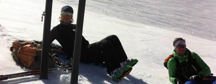 ski, randonnée, rando, bon ski, bon itinéraires, bonne desente, avec le bureau des guides du Queyras